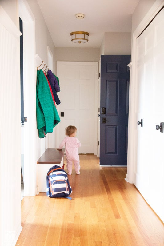 clean mudroom and small entryway