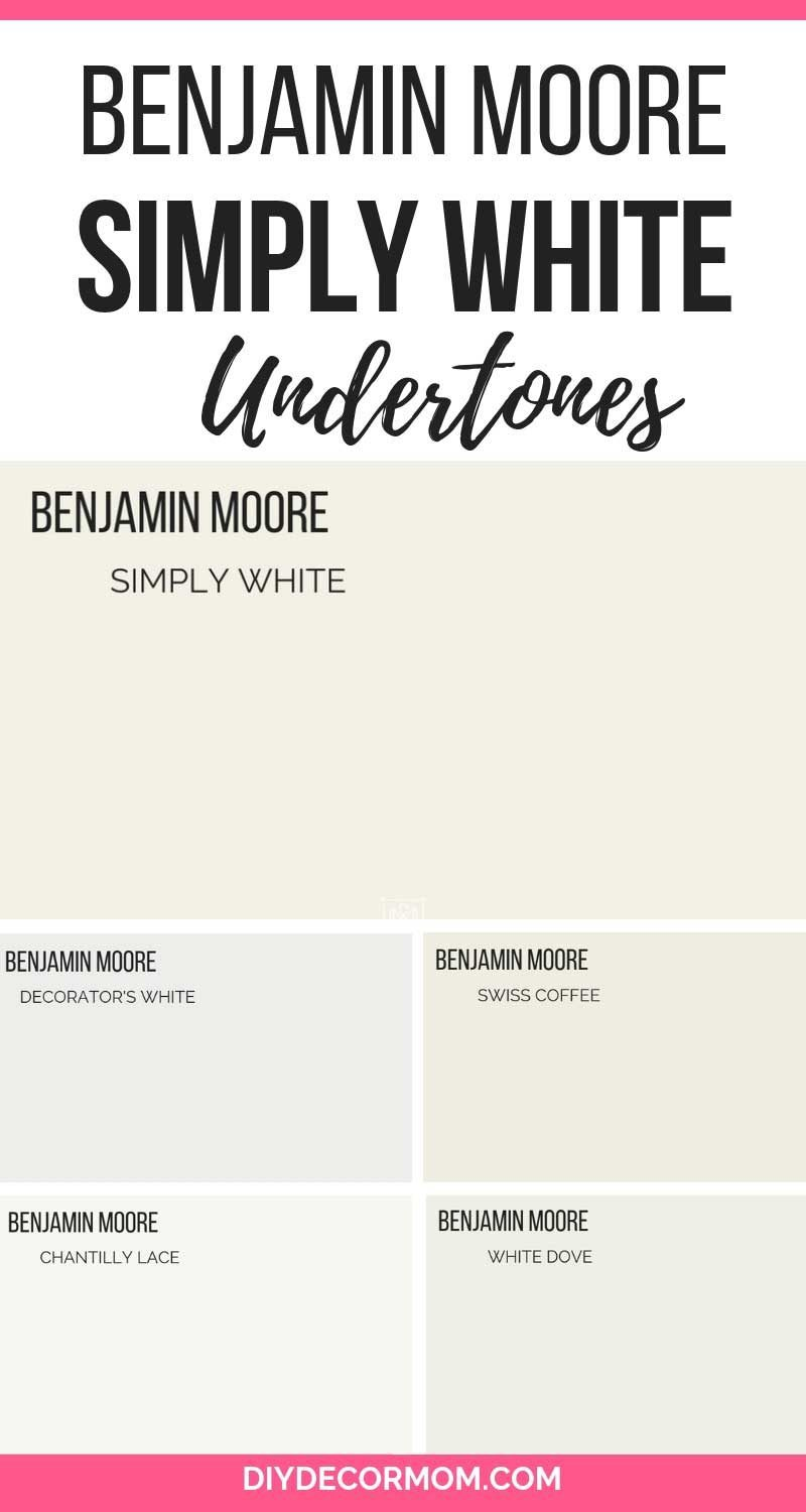 benjamin moore simply white paint chips compared