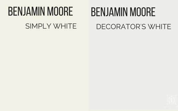benjamin moore simply white vs decorators white
