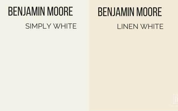 benjamin moore simply white vs linen white