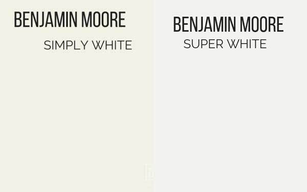 benjamin moore simply white vs super white