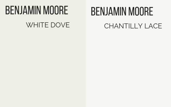 benjamin moore white dove vs chantilly lace
