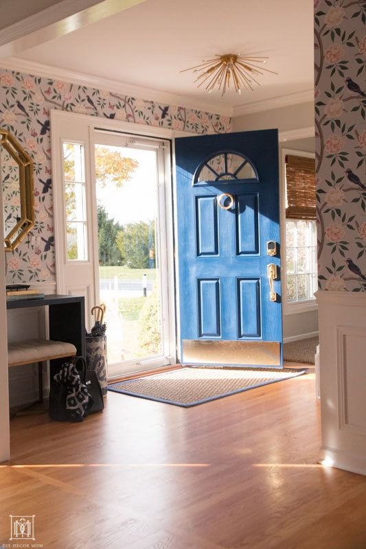 SW Dress Blues front door in a sunny foyer