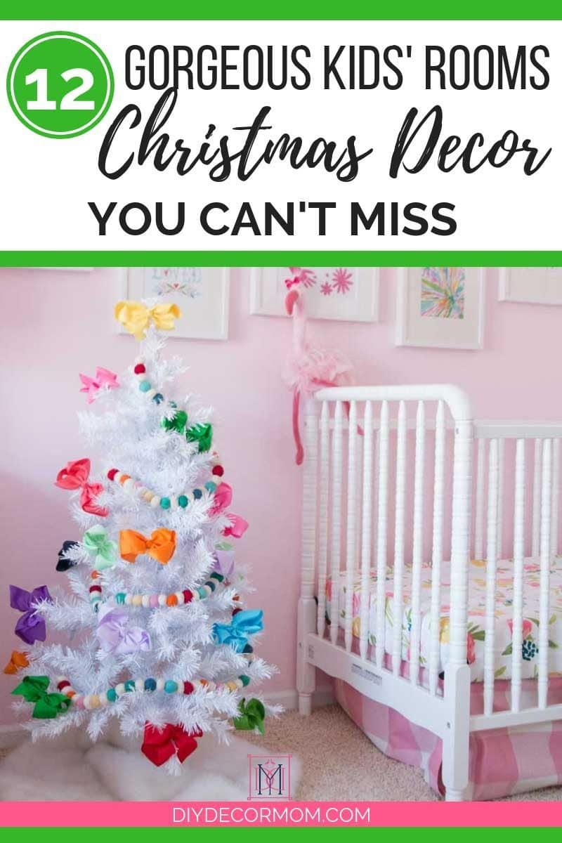 Christmas Kids Rooms Decorations With Mini Trees