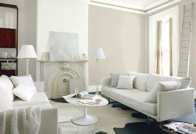 benjamin moore HC-173 light gray living room