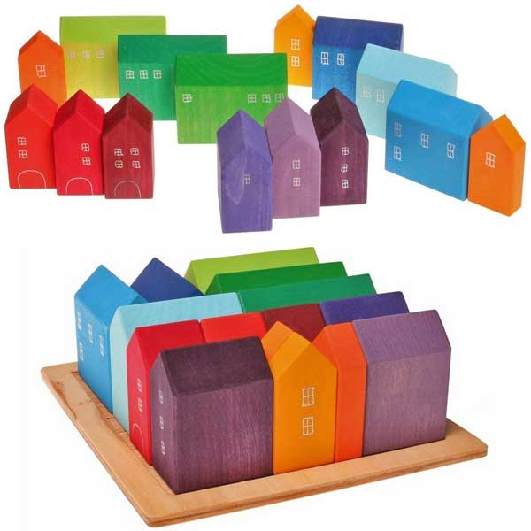 grimms wooden city- great gift ideas for kids who have everything