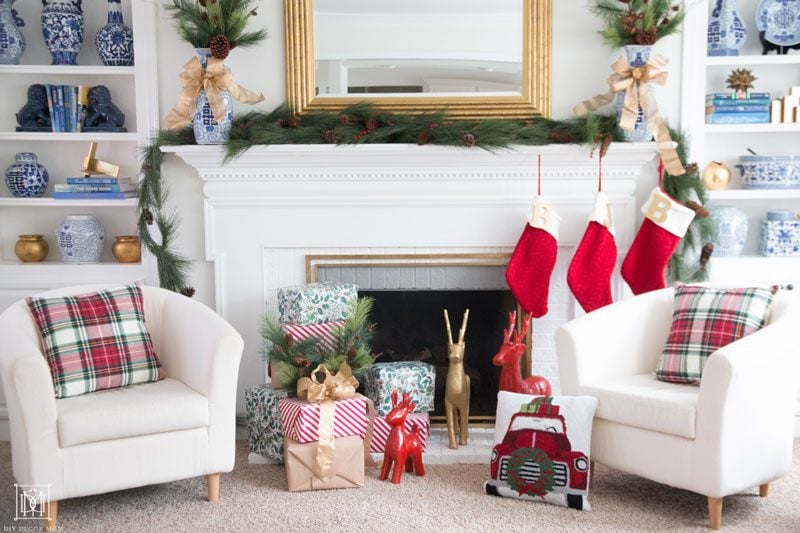 How To Decorate Your Fireplace For Christmas Easy Decor Ideas Diy