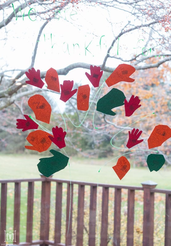 how to make a thankgsiving tree for kids
