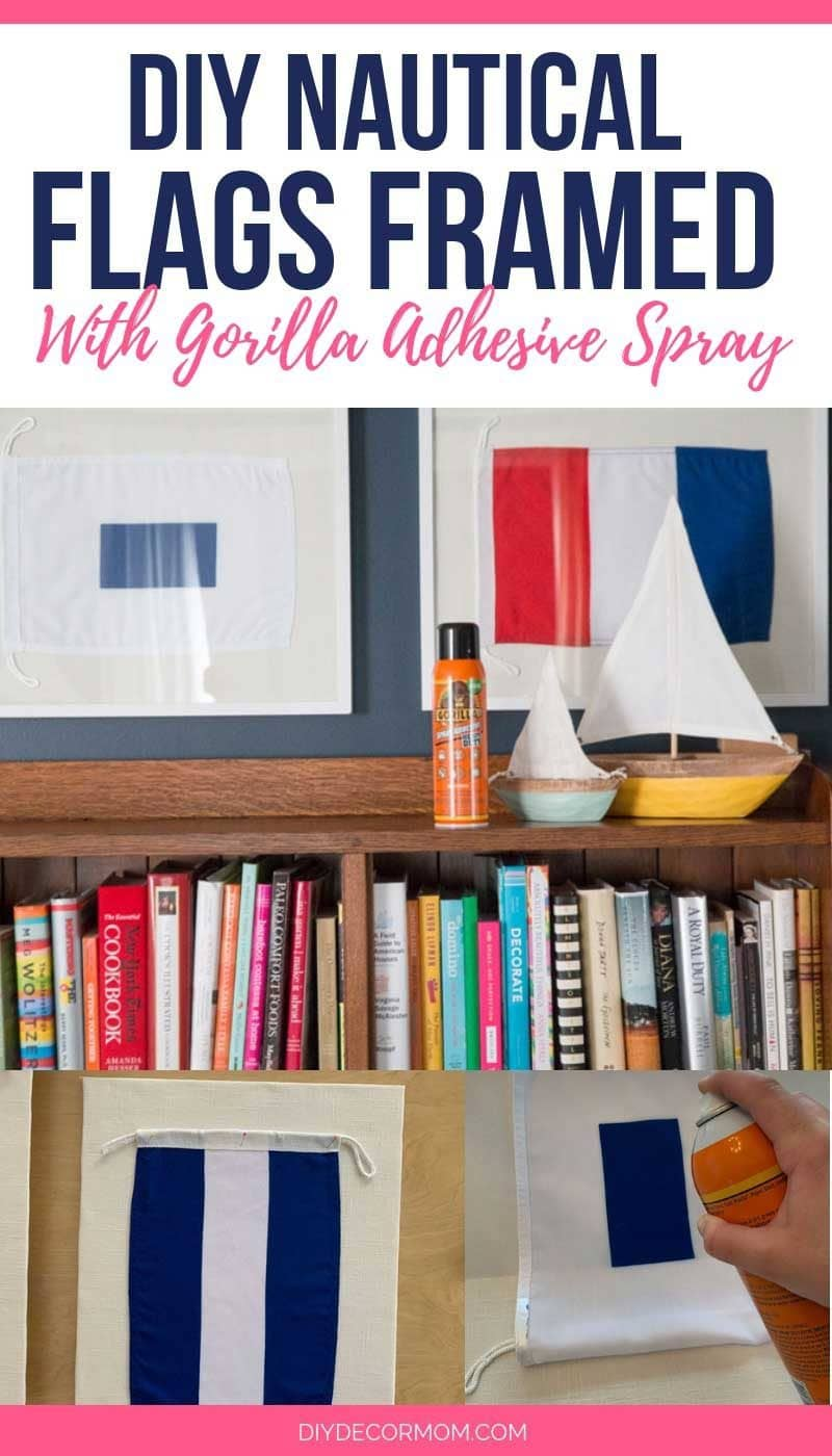 DIY nautical flags framed with Gorilla Glue