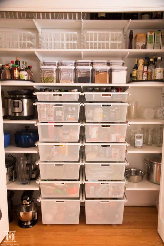 before and after organized pantry