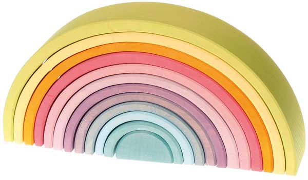 beautiful wooden rainbow puzzle from grimms- perfect gift for kids who have everything