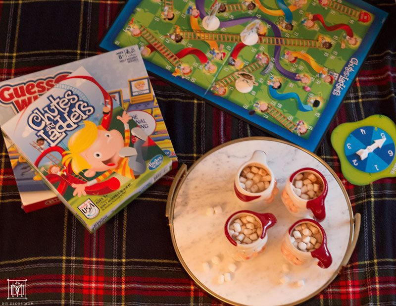 Chutes and Ladders and hot cocoa