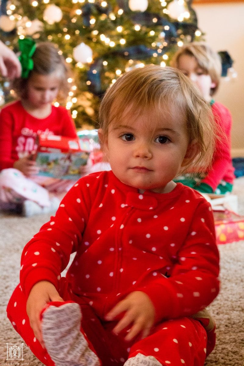 baby in cute holiday pajamas from meijer