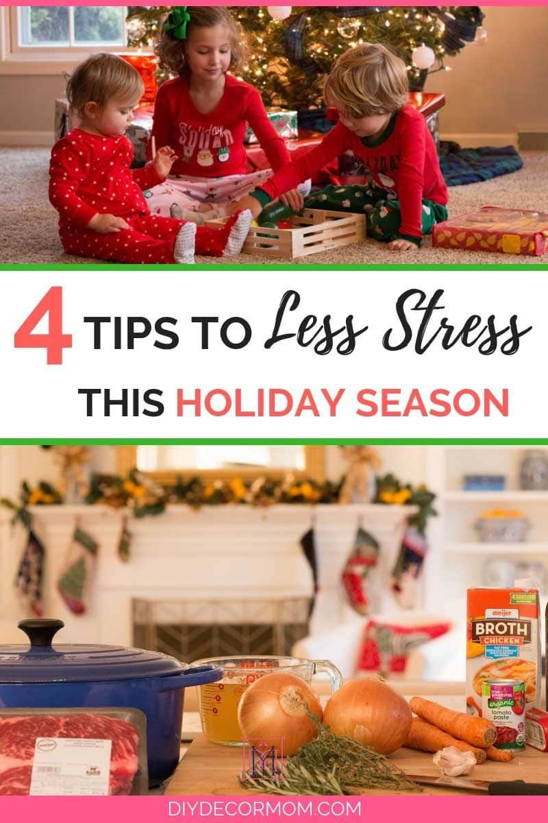 ideas for a less stressful holiday season