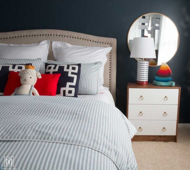 blue and white nautical bedroom for little boy