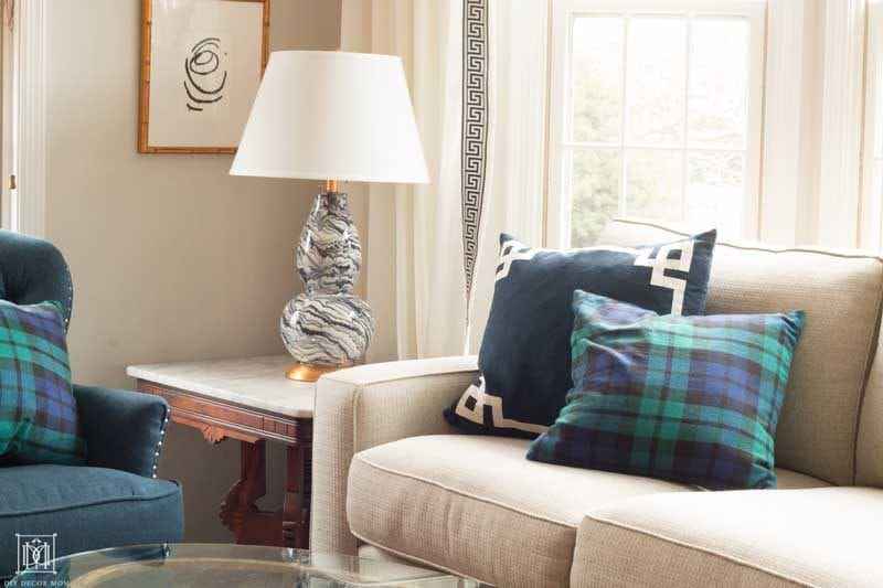 plaid pillows for christmas decor