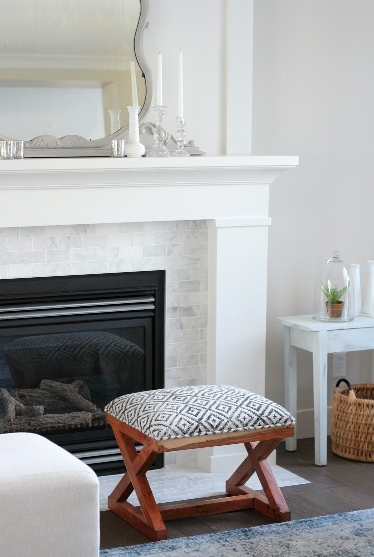 benjamin moore white dove fireplace by satori design