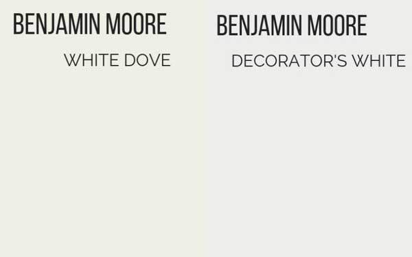 benjamin moore white dove vs decorators white