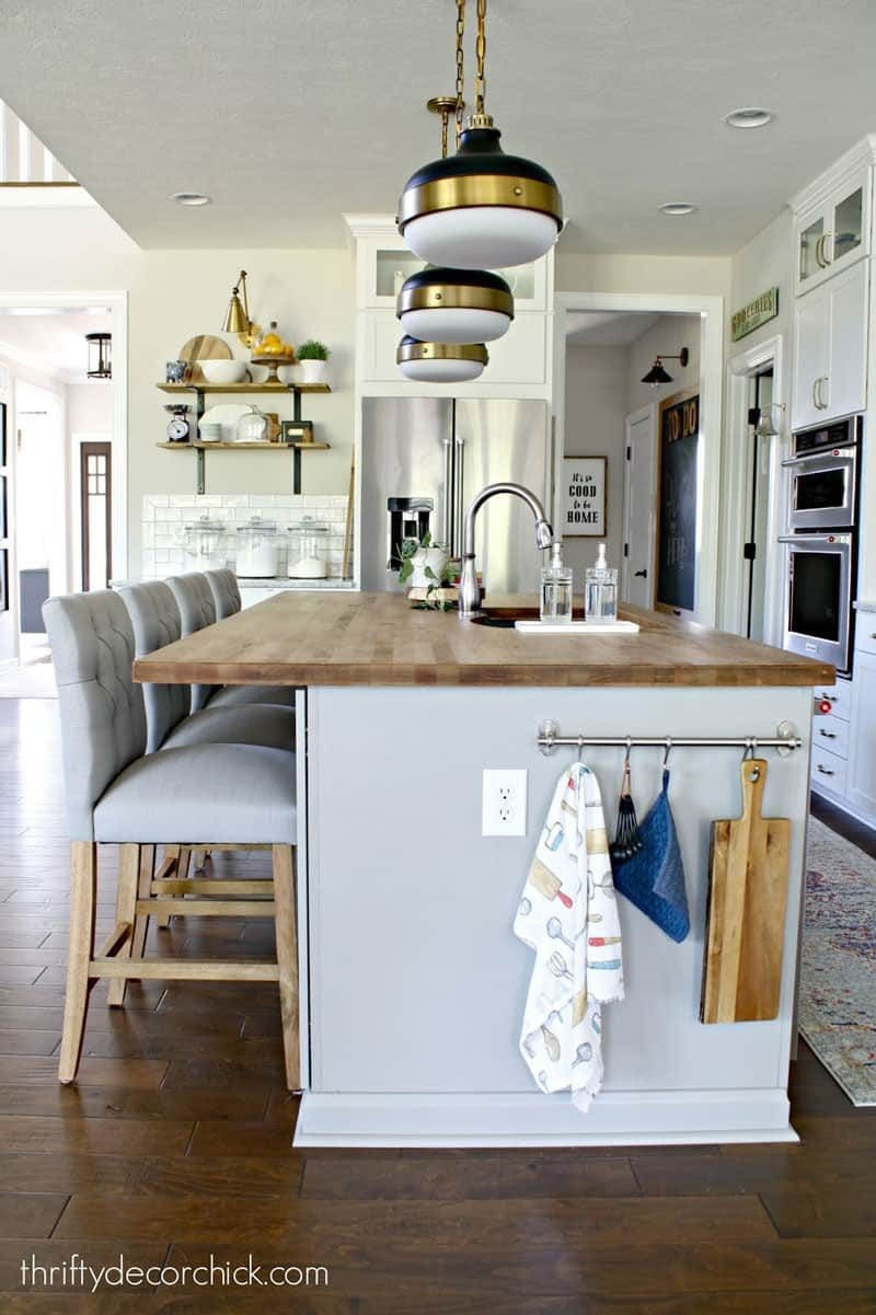 sw agreeable gray kitchen by thrifty decor chick