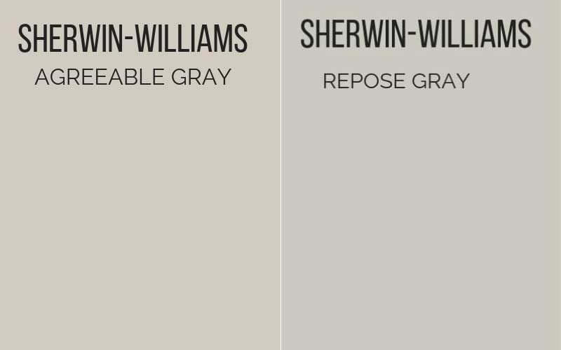 agreeable gray vs repose gray