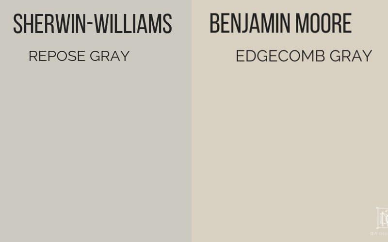 repose gray vs edgecomb gray