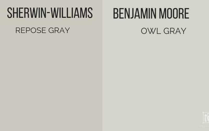 repose gray vs gray owl