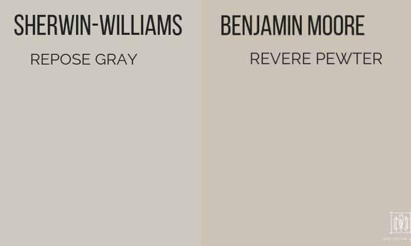 sherwin-williams repose gray vs revere pewter