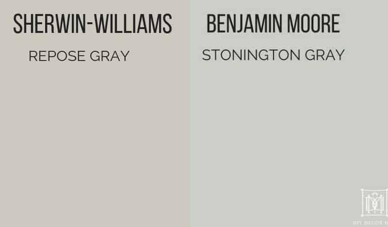 repose gray vs stonington gray paint chips