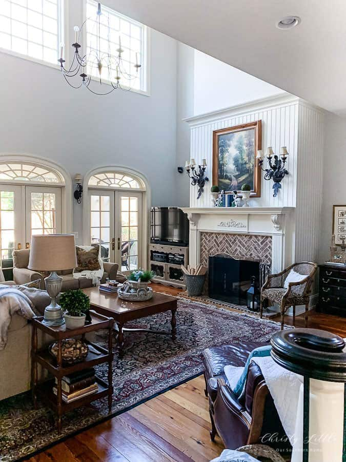 sw agreeable gray great room- our southern homes
