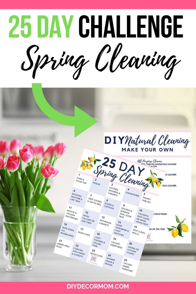 25 day spring clean challenge natural ways to clean your home