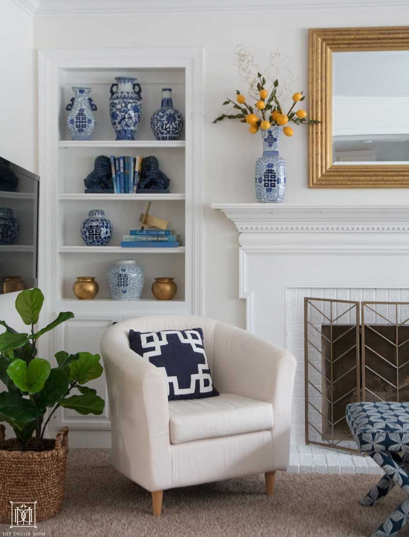 faux fiddle leaf fig in room- tips for making rooms look nice