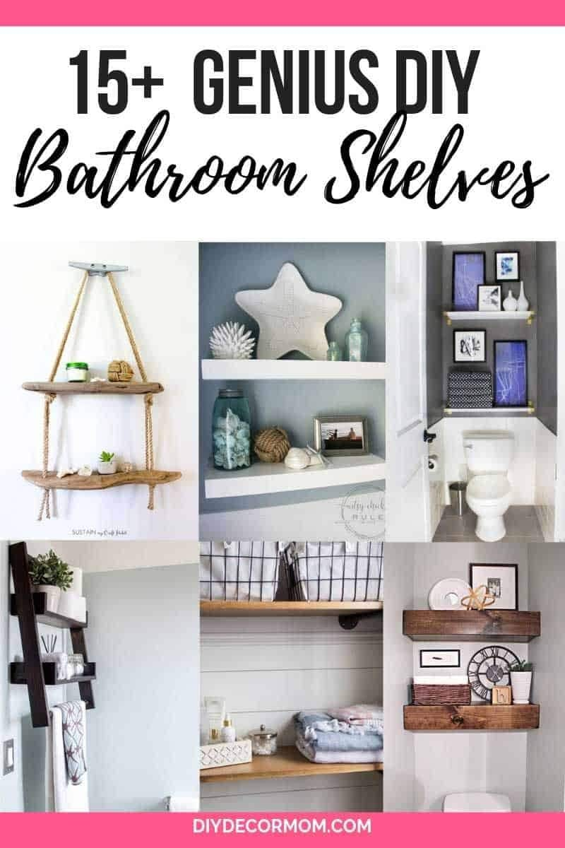DIY bathroom shelves and storage ideas for small bathrooms