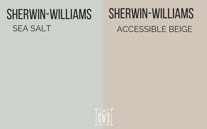sherwin williams sea salt and accessible beige
