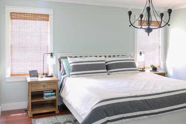 Sherwin Williams Sea Salt master bedroom- Living Letter home