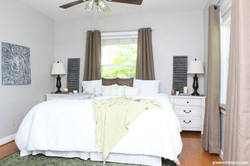 SW Agreeable Gray bedroom paint color by Green with Decor