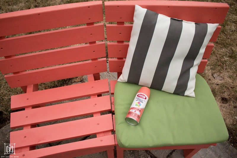 how to make a diy curved fire pit bench the easy way- coral spray paint