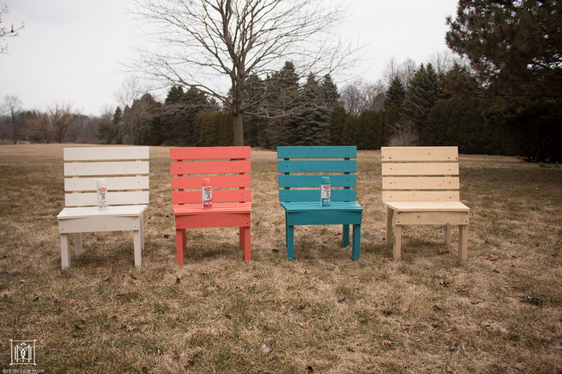 white coral teal and natural diy curved slat fire pit bench chairs in a row