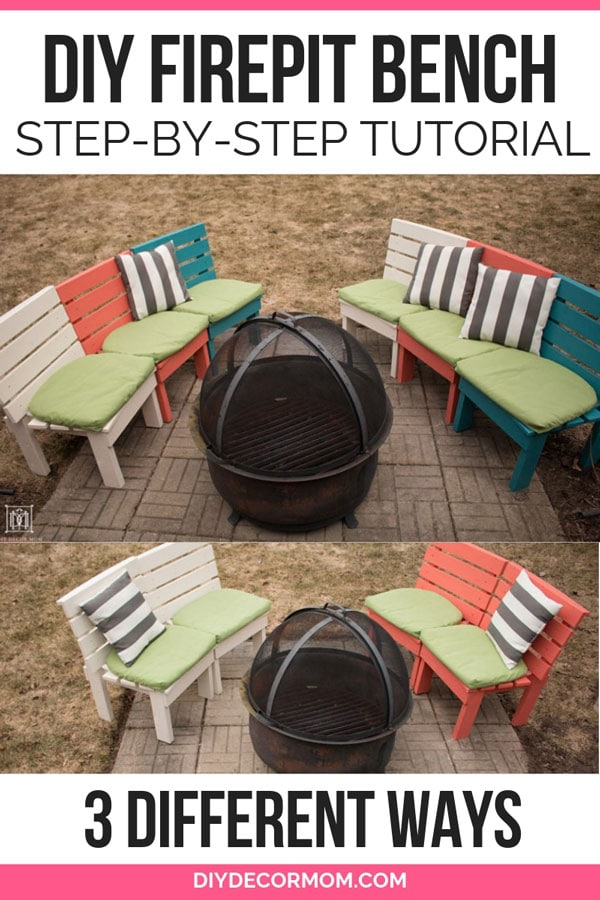 how to make a fire pit bench curved out of 2x4s