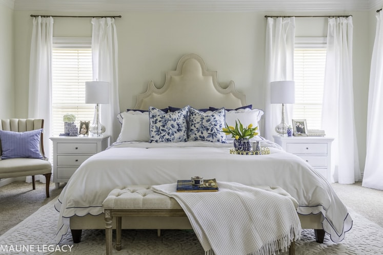 master bedroom paint color SW Dover White by Maune Legacy
