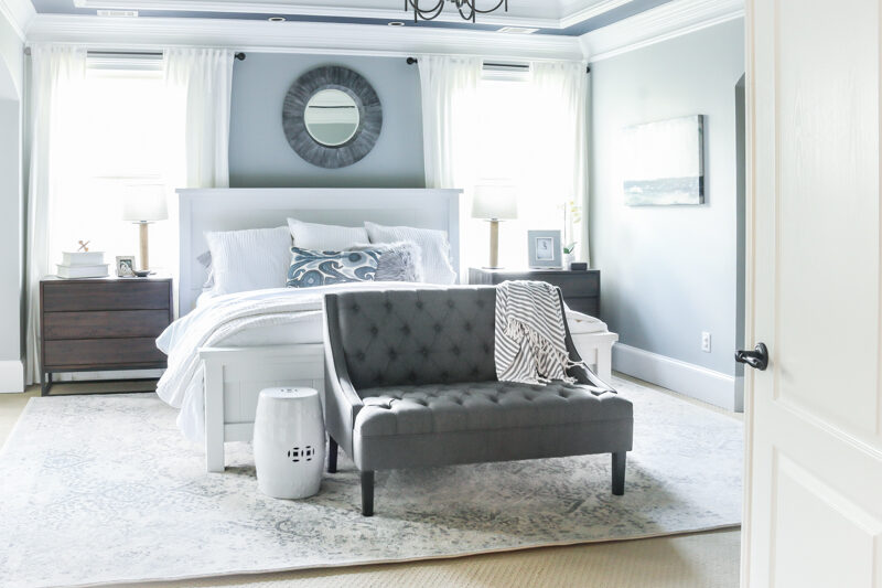 paint your tray ceiling in your master bedroom like Bower Power did here