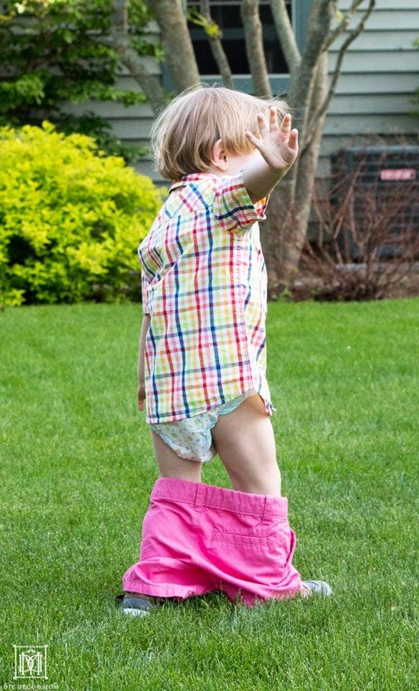 potty training a stubborn toddler