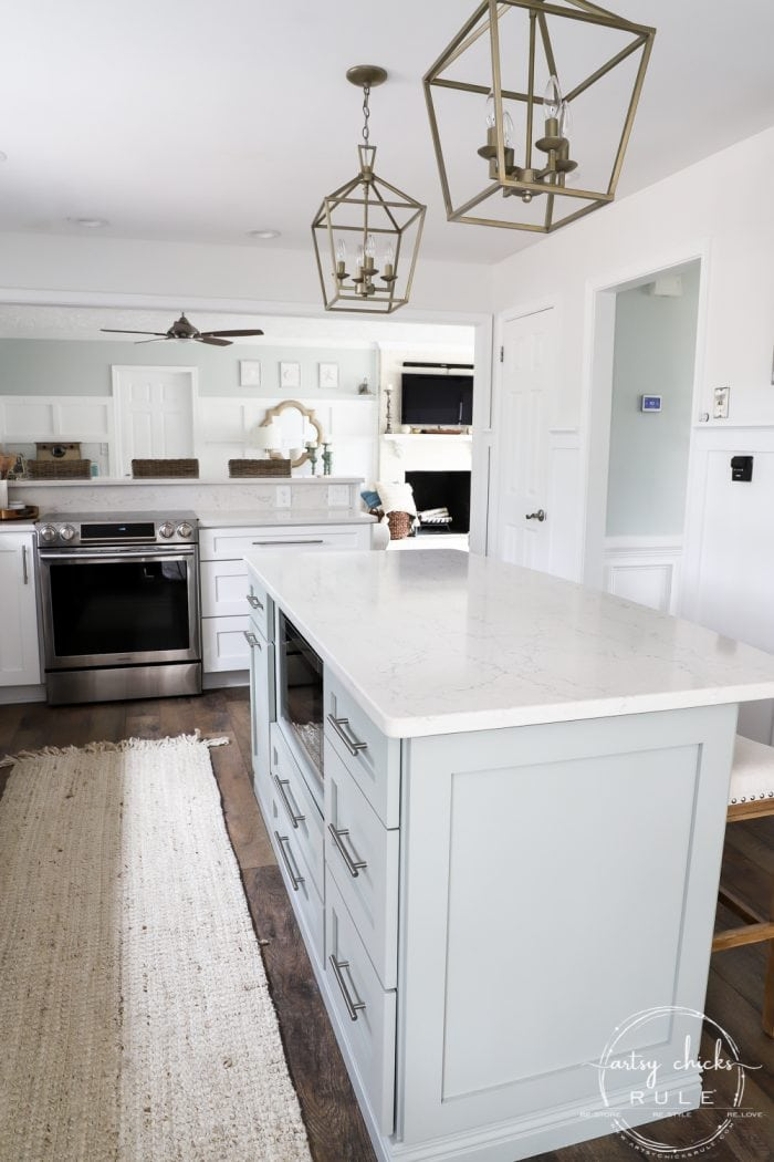 Painted Cabinets and Island Makeover