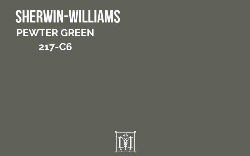 sherwin williams pewter green paint chip