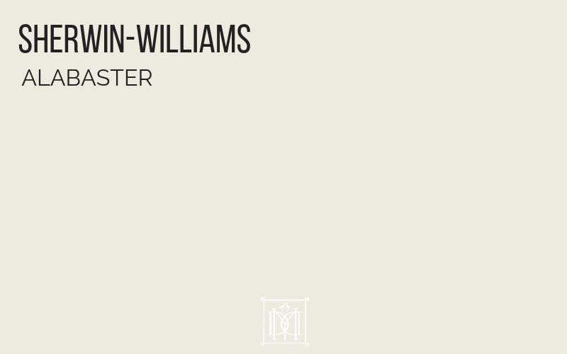 master bedroom colors- sherwin williams alabaster