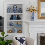 how to decorate bookcase step-by-step tutorial of built in bookcase by fireplace