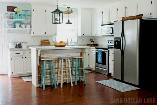 Farmhouse Kitchen Remodel - Coastal Style - Sand Dollar Lane