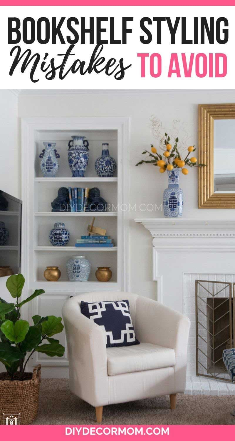 how to decorate your bookshelves with books and decorative objects tutorial