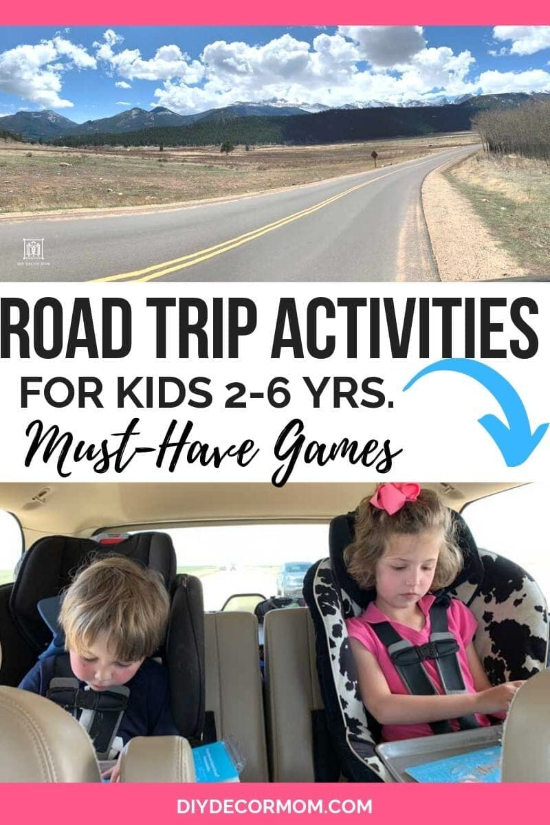 kids on road trip in car seats