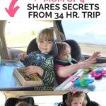 kids doing road trip activities in car seats