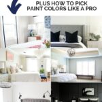 master bedroom paint colors shown in a collage